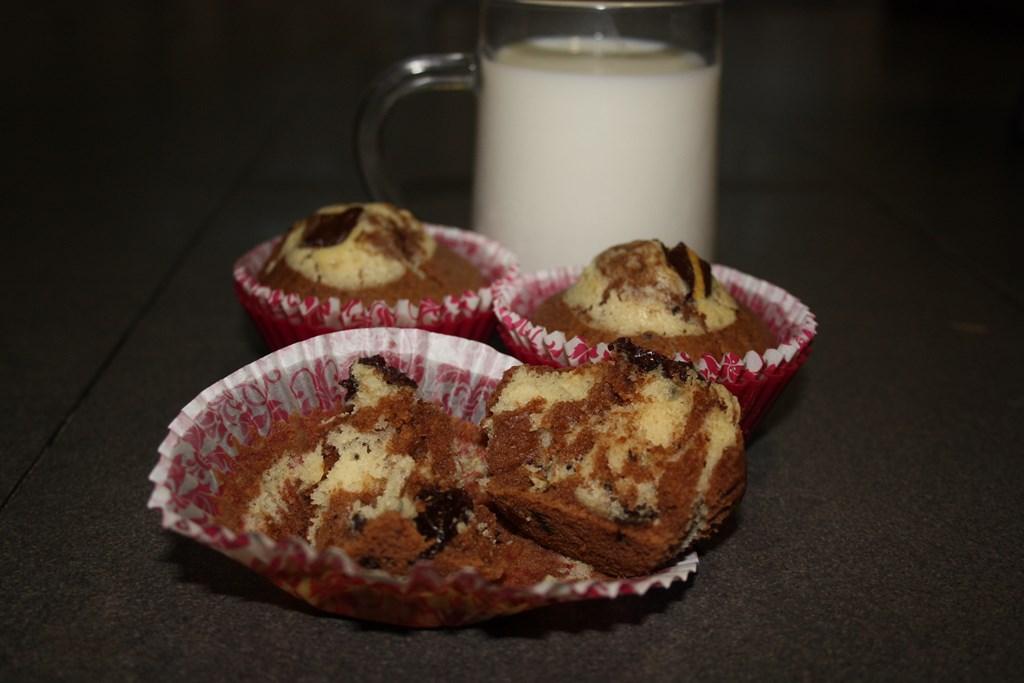 Muffins de chocolate y pasas