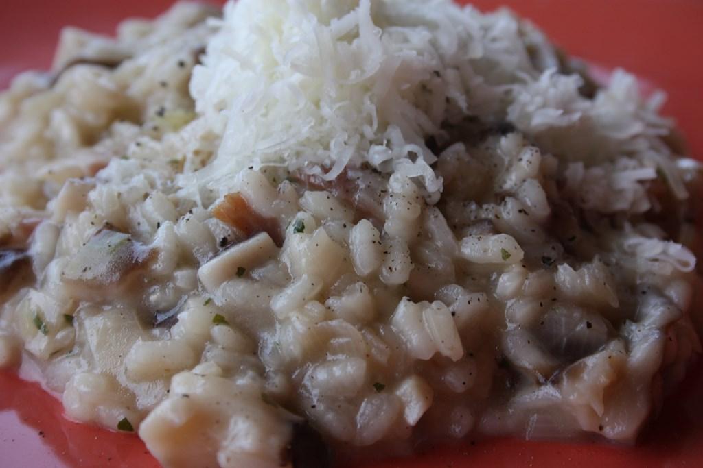 risotto de shitake puerro y queso del roncal